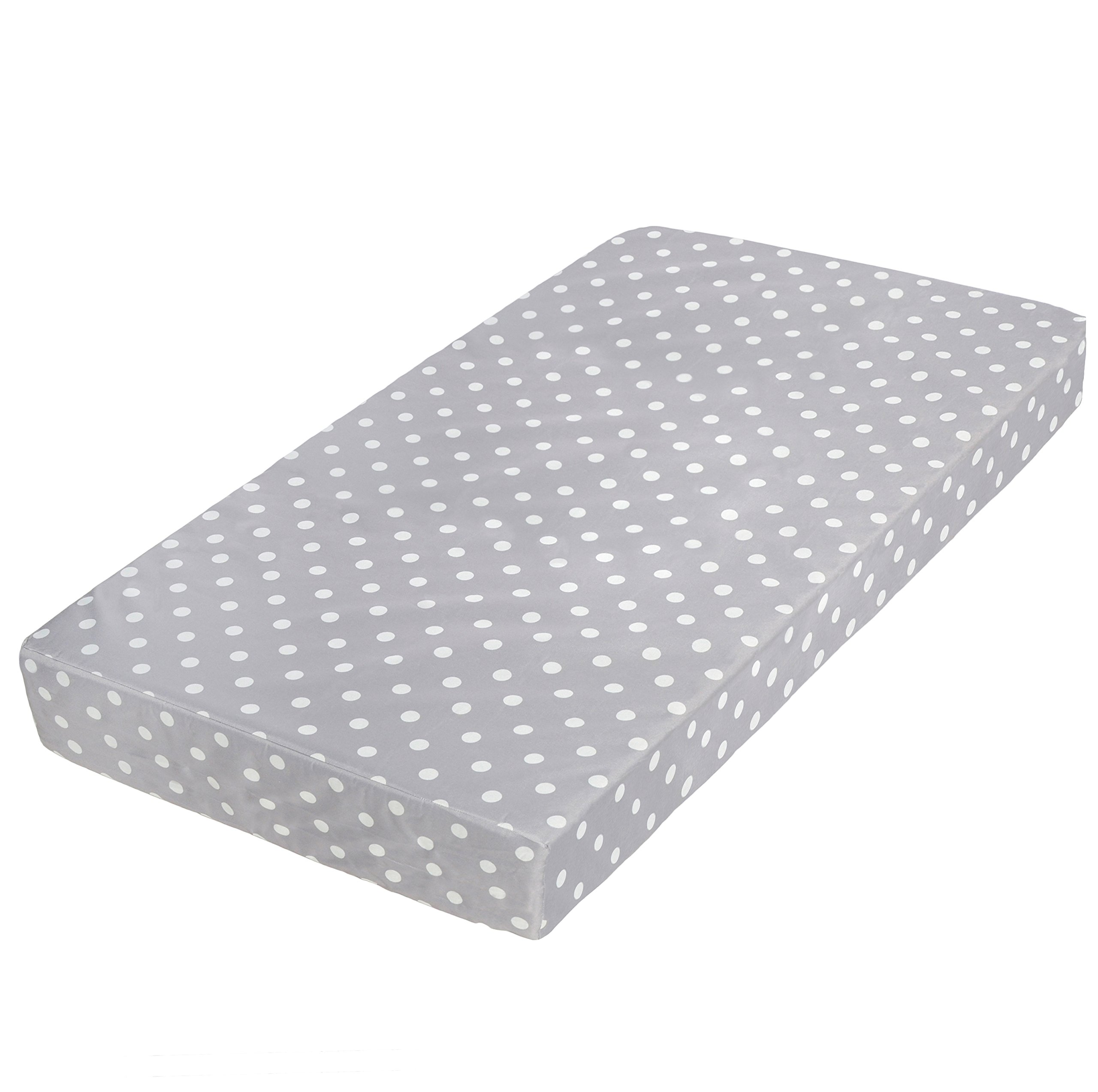 Milliard Premium Memory Foam Hypoallergenic Toddler Bed and Next Stage Baby Crib Mattress with Waterproof Cover- 27.5 inches x 52 inches x 5.5 inches