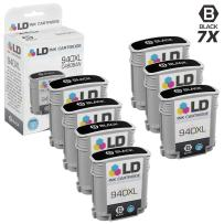 LD Remanufactured Ink Cartridge Replacement for HP 940XL C4906AN High Yield (Black, 7-Pack)