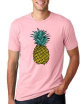 Wild Bobby Trendy Tropical Pineapple   Mens Fashion Tee Graphic T-Shirt