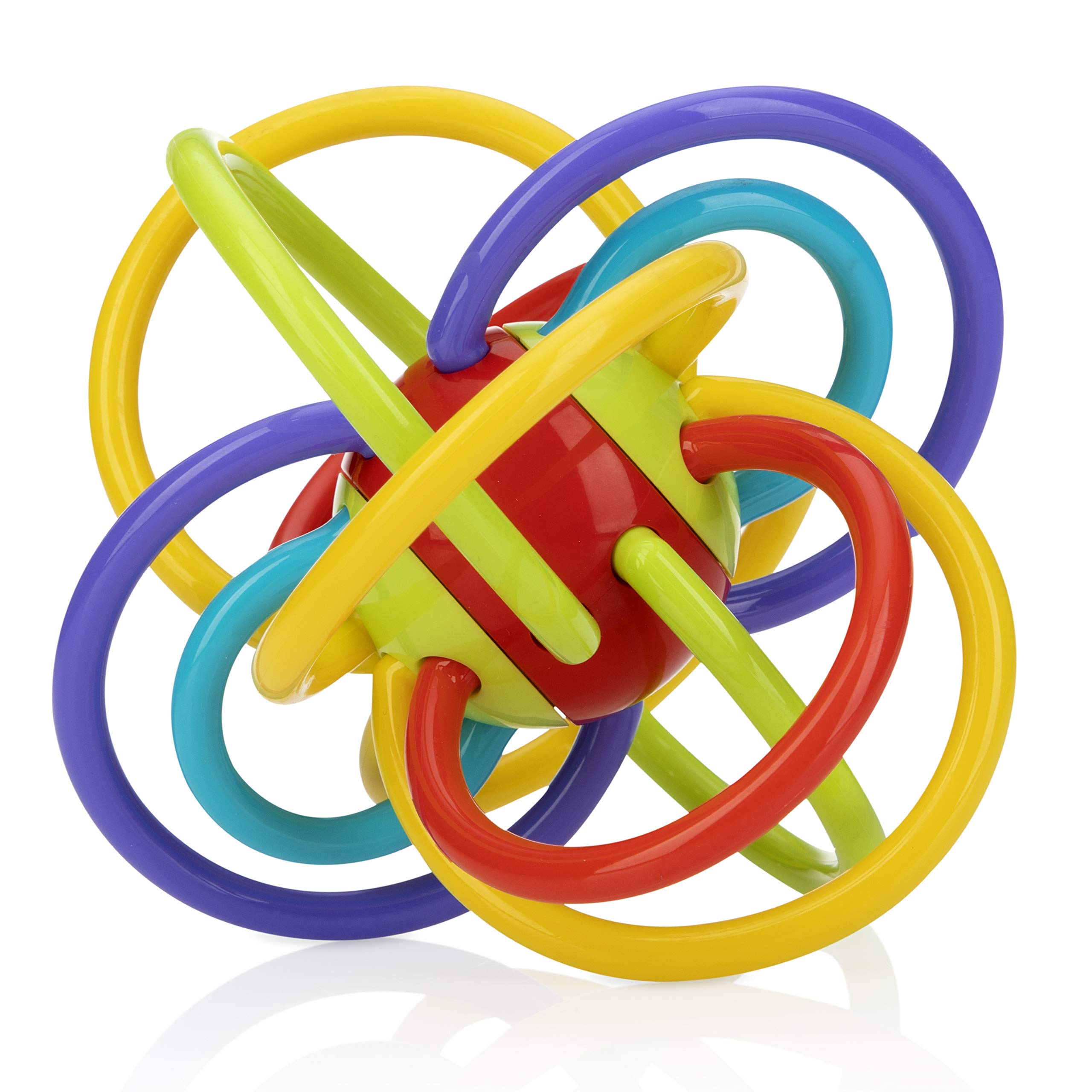 Nuby Lots A Loops Soothing Teether, 1 Pack, 3M+, Multi