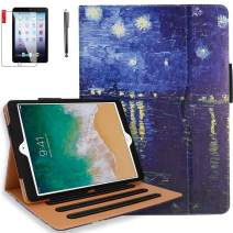 iPad 6th Generation Cases, iPad Air 2 Case, iPad Air Case with Pencil Holder, Screen Protector and Stylus - iPad 9.7 inch 2018 2017 Case - Hand Strap, Auto Sleep Wake, Multi-Angle Stand(Rhone)