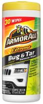 Armor All Car Cleaner Wipes for Bugs & Dirt - Cleaning for Cars & Truck & Motorcycle Interior and Exterior, 30 Count, 18499