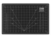 XNM Creations Premium Self Healing Cutting Mat - 12 Inches by 18 inches - A3, 3 Layer Quality PVC Construction - Dual Sided, Imperial and Metric Grid Lines - Perfect for Cutting, Sewing, and Crafts