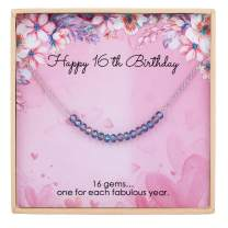 ESSIE ODILA Sweet 7th-25th Birthday Girls Bracelet Gift for Women Teenager 925 Sterling Silver Crystal Beads Jewelry Birthday Gift Daughter Sister Niece