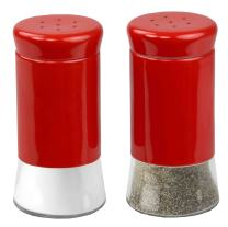 Home Basics Essence Collection Salt and Pepper Shaker Set, Red