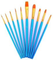 AOOK 10 Pieces Paint Brush Set Watercolor Brushes Professional Paint Brushes Artist for Watercolor Oil Acrylic Painting (1-Pack)