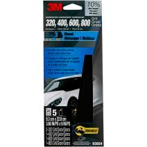 3M Auto Advanced Wetordry Sandpaper, 03024, Assorted Grits, 3 2/3 inch x 9 inch, 5 sheets per pack, Packaging May Vary