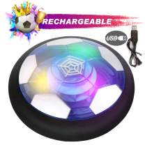 SCIONE Kids Toys Hover Soccer Ball Rechargeable Game Indoor USB LED Air Power Training Ball Light up Playing Football Game Toys for 3 4 5 6 7 8-12 Year Old Boys