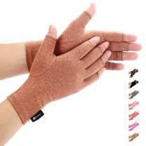 Duerer Arthritis Gloves Women Men-Compression Gloves for Pain Relief-RSI, Carpal Tunnel, Rheumatoid & Osteoarthritis Hand Gloves(Brown, S)
