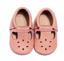 Bebila BabyWater Beach Toddler Shoes - Genuine Leather T-StrapHollow Moccasins Flats Shoes for Boys Girls