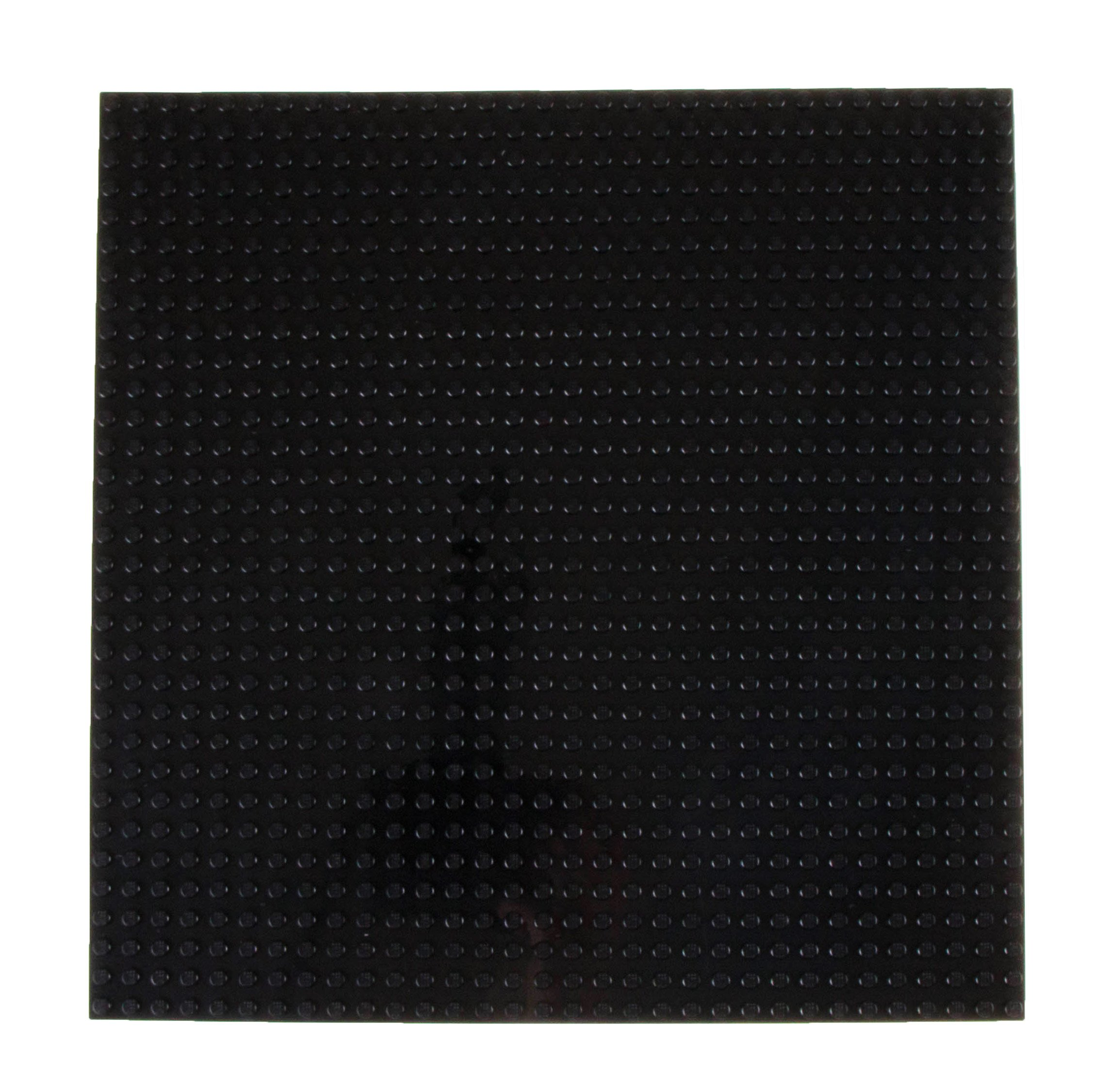 """Strictly Briks Classic Baseplates 10"""" x 10"""" Stackable Brick Base Plate 100% Compatible with All Major Brands   Baseplate for Building Towers, Tables & More   1 Black Baseplate"""