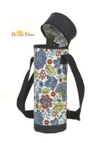 Picnic Plus Insulated Wine Bottle Carrier Wine Tube (Blue Peacock)