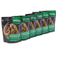Wild Garden Ready-To-Go Moroccan Chermoula Marinade, 100% All Natural, No Additives, No Preservatives, Bold, Flavorful, Perfect for Meats and Vegetables! 6 pack
