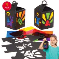 Baker Ross Holy Week Lantern Kits (4 Pack) Creative Easter Art and Craft Supplies for Kids to Make and Decorate (4 Pack)