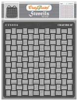CrafTreat Pattern Stencils for Painting on Wall, Wood, Canvas, Paper, Fabric, Floor Tile - Basketweave Stencil - 12x12 Inches - Reusable DIY Art and Craft Stencils - Chekker Pattern Stencil
