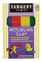 Sargent Art 22-4400 1-Pound Primary Assorted Color Clay