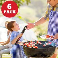 GObbq BBQ Grill Mat - 6-Pack 18 x 13 inch, 0.4mm Thick Most Durable, Non-Stick BBQ Grilling Mats for Gas, Charcoal, Electric Grill