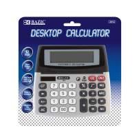 BAZIC 12-Digit Dual Power Desktop Calculator w/Adjustable Display (Box of 12)