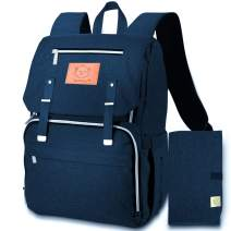 Diaper Bag Backpack for Mom and Dad Diaper Changing Mat Included (Navy Blue)