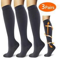 YIKUSO Compression Socks for Women & Men Best Medical,for Running,Athletic,Circulation & Recovery Colorful