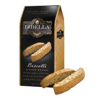 Dibella Biscotti Cookies – Authentic Italian Biscotti, Almond Orange, 6.6 Oz – Gourmet Cantuccini Biscotti – Rich Flavor – Crunchy Outside with Silky Middle – Classic Italian Biscotti