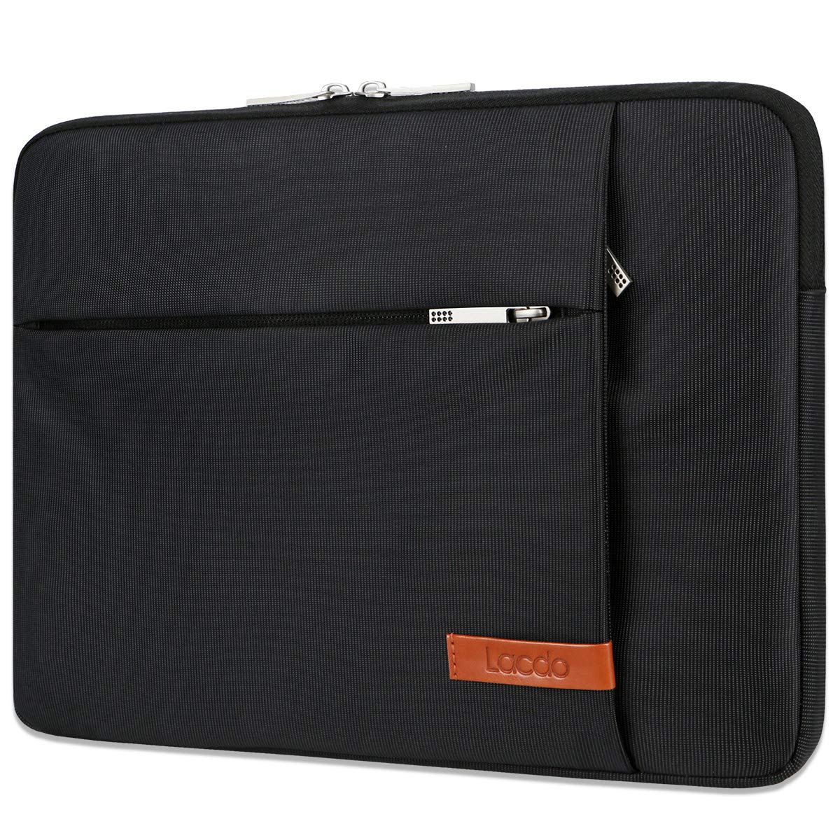 Lacdo 13.3 Inch Laptop Sleeve Case for Old 13 Inch MacBook Pro Retina 2012-2015, Old MacBook Air 2010-2017 / Surface Book 3 2, HP Envy 13 ASUS ZenBook 13 Acer Chromebook Bag, Water Resistant, Black