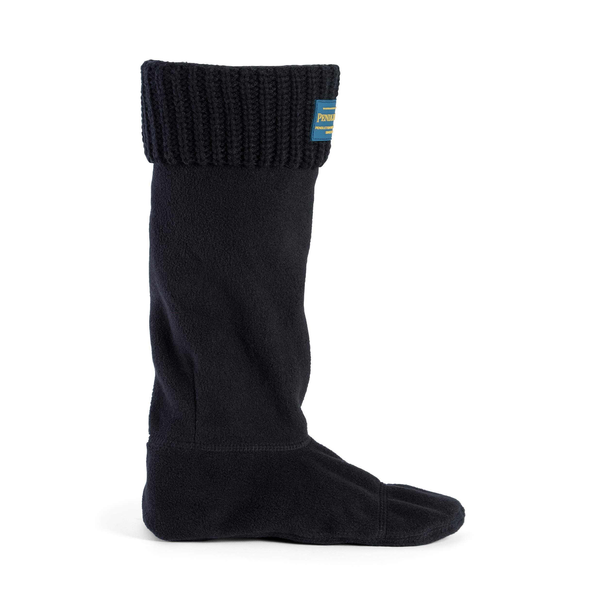 Pendleton Women's Tall Shaker Stitch Thermal Boot Sock Lining for Rain Boots