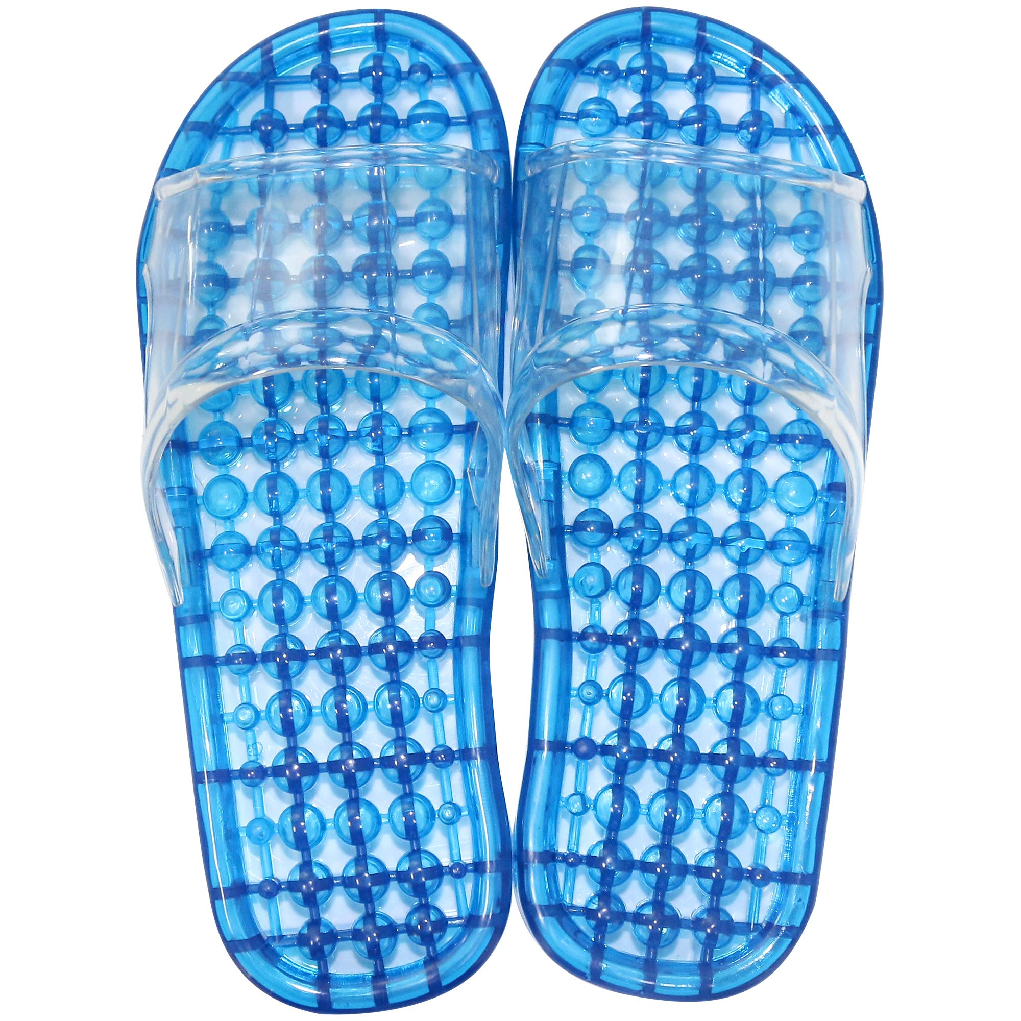 Massage Slippers,URBEST Feet Meridians Fashion Quick Drying Breathable Shower Slippers, Foot Massgaer Shoes, Spa Slippers (L, Blue)