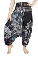 LOFBAZ Harem Yoga Pants for Women Patchwork Boho Hippie Bohemian Aladdin Unisex