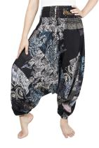 LOFBAZ Harem Yoga Pants for Women Patchwork Boho Hippie Bohemian Aladdin Unisex