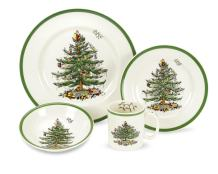Spode Christmas Tree 4-Piece Dinnerware Place Setting, Service for 1