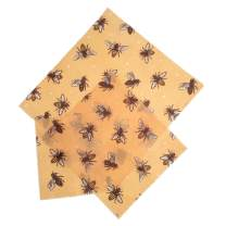 Beeswax Food Wrap, Set of 3 (Small, Medium, and Large) – Reusable and Organic, Sustainable Replacement for Plastic Wrap – Perfect for Produce and Cheese