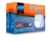 Inspire Adult Diaper Incontinence Underwear, Small/Medium, 80 count