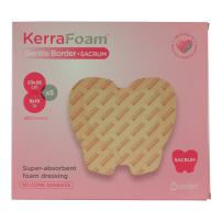 KerraFoam Large Sacral Gentle Border Foam Dressing for Wound Care (CWL1040) - Aids Wound Healing by Absorbing and retaining Drainage While Being Gentle on The Surrounding Skin.