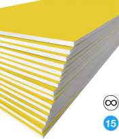 Excelsis Design, Pack of 15, Foam Boards, 20x30 Inches, Yellow Color (More Colors Available) 3/16 Inch Thick Mat, (Acid-Free Foam Core Backing Boards, Double-Sided Sheets)
