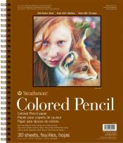 """Strathmore 400 Series Colored Pencil Pad, 11""""x14"""" Wire Bound, 30 Sheets"""