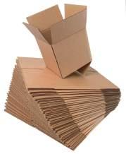 KILLUA Shipping Boxes 6X6X6 Kraft Corrugated Cardboard Box Small Mailing Boxes, 25 Pack (6X6X6),Multi-size Selection