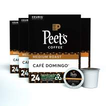 Peet's Coffee Café Domingo, Medium Roast, 96 Count Single Serve K-Cup Coffee Pods for Keurig Coffee Maker