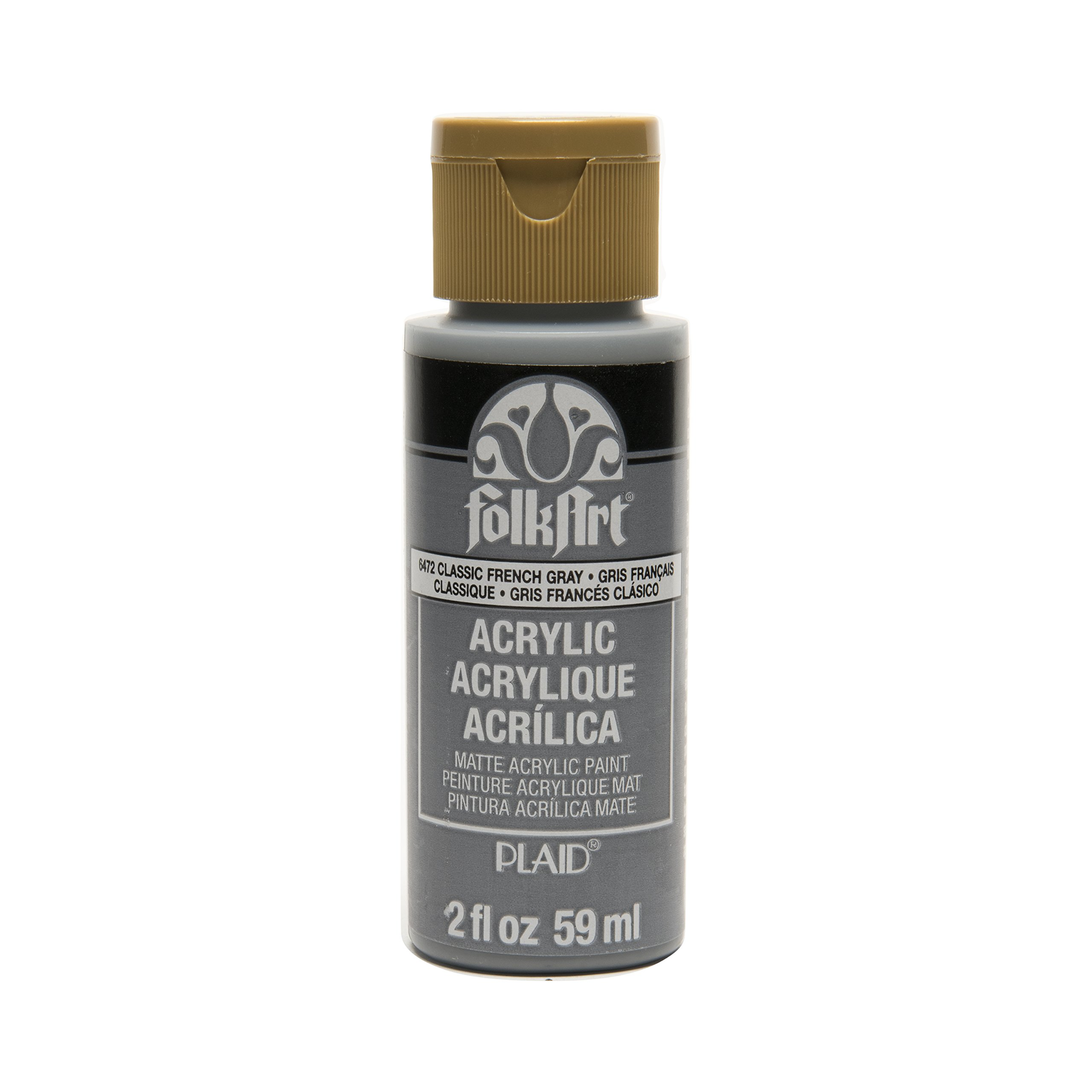FolkArt Acrylic Paint in Assorted Colors (2 oz), , Classic French Gray