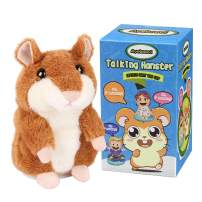 Ayeboovi Toys for Kids Talking Hamster Repeats What You Say Educational Talking Toy Repeating Hamster Toy Gift for Boys and Girls … (Brown)