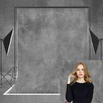 Allenjoy 5x7ft Gray Photography Backdrop Grey Old Master Portrait Collapsible Fabric Background for Baby Adult Family Wedding Photoshoot Video Photo Booth Studio Props