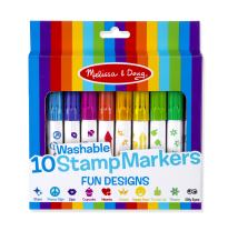 Melissa & Doug 10 Washable Stamp Markers – Fun Designs (Great Gift for Girls and Boys - Best for 4, 5, 6, 7, 8 Year Olds and Up)