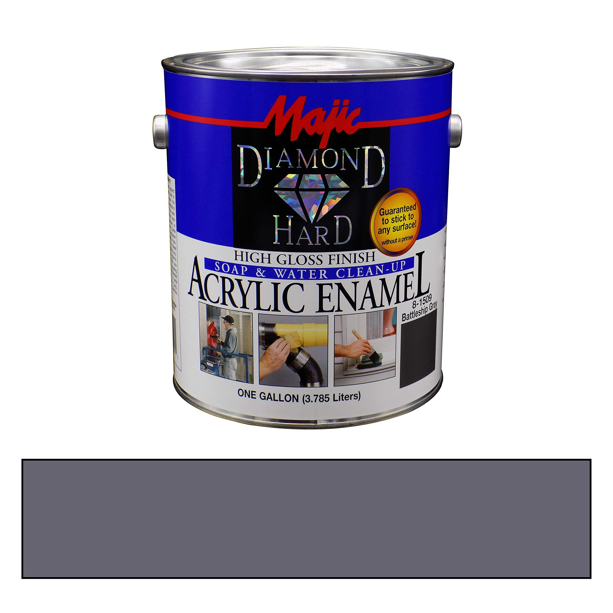Majic Paints 8-1509-1 Diamond Hard Acrylic Enamel High Gloss Paint, 128 oz / 1-Gallon, Battleship