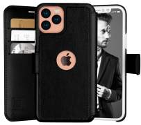 LUPA iPhone 11 Pro Max Wallet Case -Slim iPhone 11 Pro Max Flip Case with Credit Card Holder - for Women & Men - Faux Leather i Phone 11 Pro Max Purse Cases – Black - 6.5 inch Display Screen