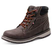 JIASUQI Mens Outdoor Water Resistant Hiking Boots Insulated Winter Snow Boots Work Boots