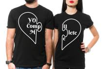 Silk Road Tees Couple Matching Shirts You Complete Me Heart Girlfriend Boyfriend Tee Shirts