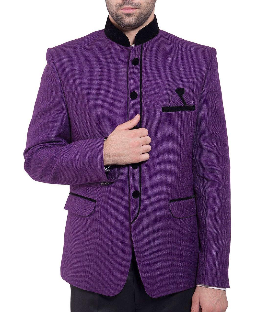 WINTAGE Men's Rayon Cotton Bandhgala Festive Nehru Mandarin Blazer- Twenty Colors