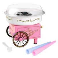 Nostalgia PCM305 Vintage Hard and Sugar Free Countertop Cotton Candy Maker, Includes 2 Reusable Cones And Scoop – Pink, Main