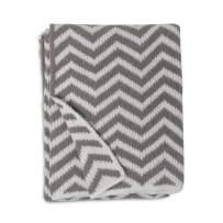 Living Textiles Chevron Chenille Soft Baby Blanket PREMIUM Cozy Fabric for BEST COMFORT - For Infant,Toddler,Newborn,Nursery,Boy,Girl,Unisex,Throw,Crib,Stroller,Gift, Grey Chevron 40x30