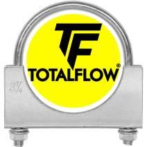"TOTALFLOW 3.25"" TF-UZ325 Zinc Plated Saddle U-Bolt Exhaust Muffler Clamp-3.25 Inch"